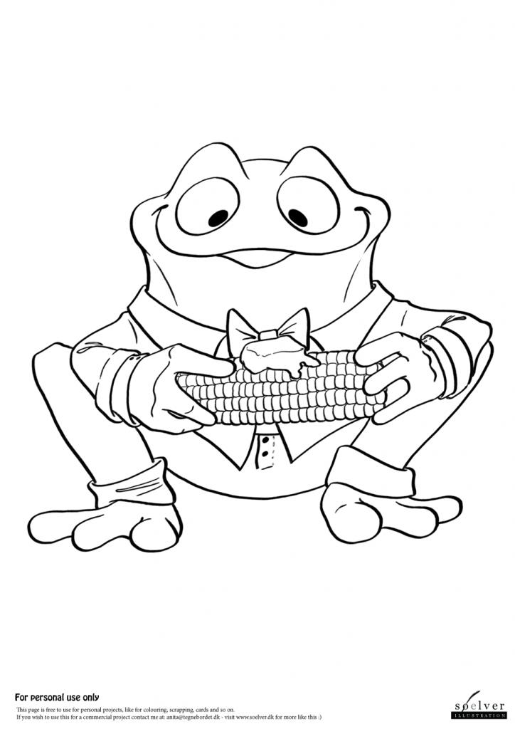 Cornfrog | Coloring Page