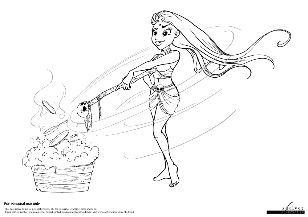 Witchdoctor | Coloring Page